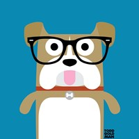 Bow Wow Bulldog Framed Print