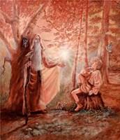 Merlin And The Boy Arthur Framed Print