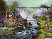 Cobblestone Mill Overpass Fine Art Print