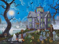 Spooky Manor Fine Art Print