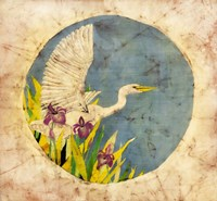Great Egret - Batik Fine Art Print