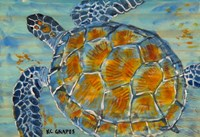 Underwater Sea Turtle Fine Art Print