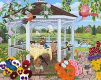 Garden Gazebo Fine Art Print