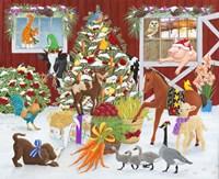 Christmas Morning Surprise Framed Print