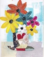Patchwork Vase Fine Art Print