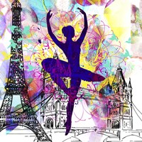 London Ballerina Silhouette 1 Fine Art Print
