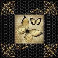 Golden Butterflies 2 Fine Art Print