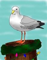 Holiday Seagull Fine Art Print