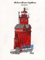 Holland Harbor Lighthouse Michigan Fine Art Print