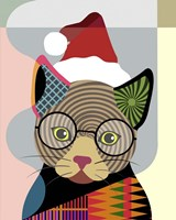Santa Kitty Fine Art Print