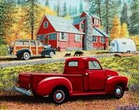 Autumn in Big Bear Forest Framed Print