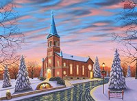 Christmas at Our Lady of Victory #2 Fine Art Print