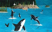 Eagles & Orcas Fine Art Print