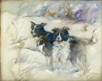 Cow Dogs Fine Art Print