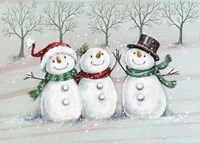 Three Snowmen 2 Fine Art Print
