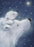 Polar Bear And Cub 2 Fine Art Print