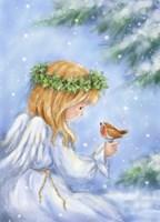 Angel and Robin Fine Art Print