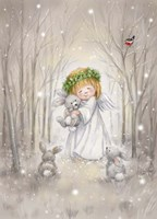 Angel with Rabbit Fine Art Print