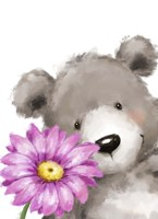 Bear and Flower Fine Art Print