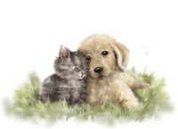 Dog and Cat 1 Fine Art Print