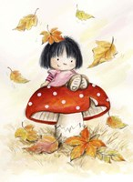 Girl on Mushroom Fine Art Print