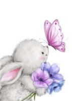 Rabbit and Butterfly Fine Art Print