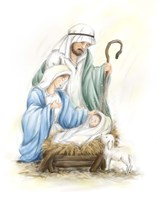 Nativity Jesus baby Fine Art Print