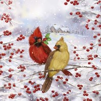 Cardinal Couple Fine Art Print