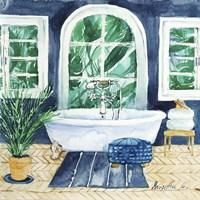 Tropical Bathroom 1 Fine Art Print