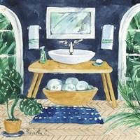 Tropical Bathroom 2 Fine Art Print