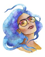 People- Blue Hair Fine Art Print