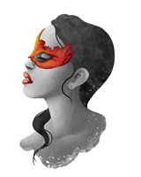 People- Red Mask Fine Art Print