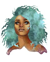 People- Teal Hair Fine Art Print