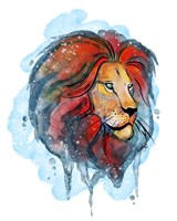 Watercolor Safari- Lion Fine Art Print