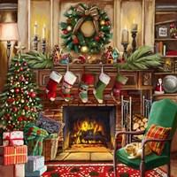 Fireside Christmas Fine Art Print