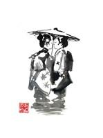 Two Geisha Fine Art Print