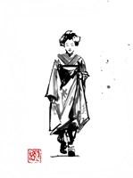 Geisha Walking Fine Art Print