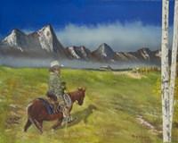 Cowboy Heading Home Fine Art Print