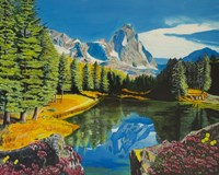 Mountain Reflection Fine Art Print