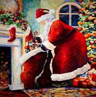 Santa & Bag of Toys Fine Art Print