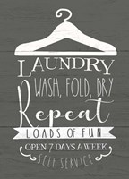 Laundry Sign Fine Art Print
