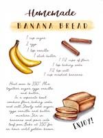 Banana Bread Recipe Fine Art Print