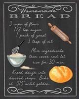 Homemade Bread Recipe Fine Art Print
