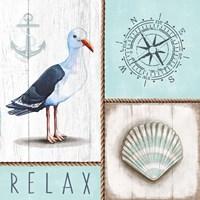 Nautical Relax Framed Print