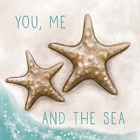 You, Me and the Sea Framed Print