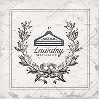 Laundry Self Service Framed Print