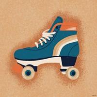 Orange Skate Fine Art Print
