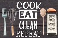 Cook Eat Clean Repeat Fine Art Print