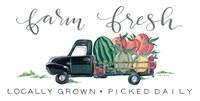 Farm Fresh Produce Truck Fine Art Print