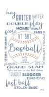 Baseball Phrases Fine Art Print